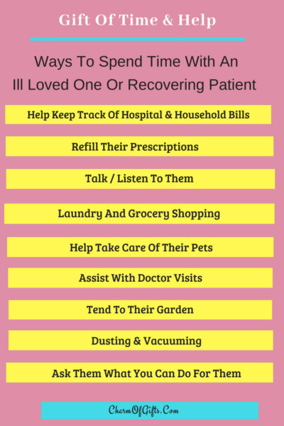 Things you can do for a sick or recovering loved one