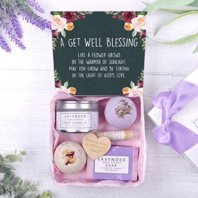get well blessing gift box
