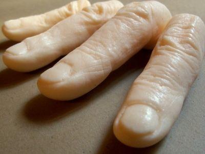 finger shaped soaps
