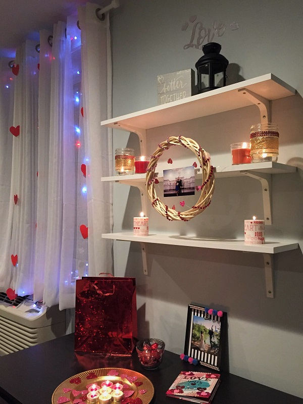 Simple and romantic diy valentine 39 s day room decor - Valentine day room decoration ...