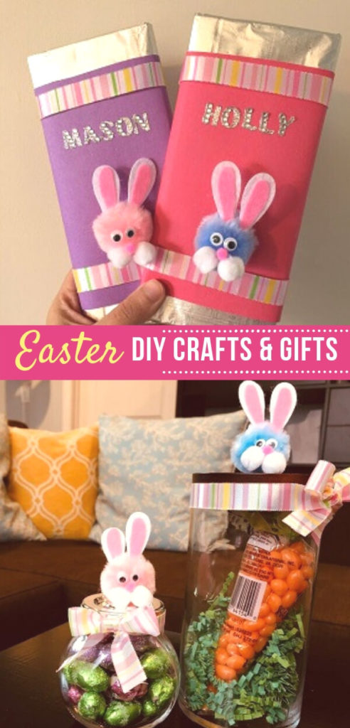 Adorable Easter DIY ideas that are great for Easter gifts and also double up as Easter crafts you can easily make with kids. An easy DIy for busy moms and little kids.