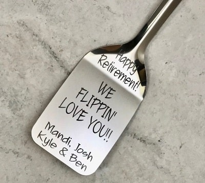 Customized Retirement Spatula