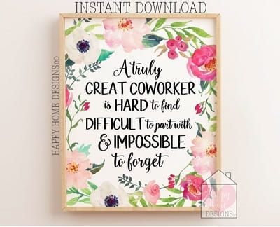 going away coworker printable gift