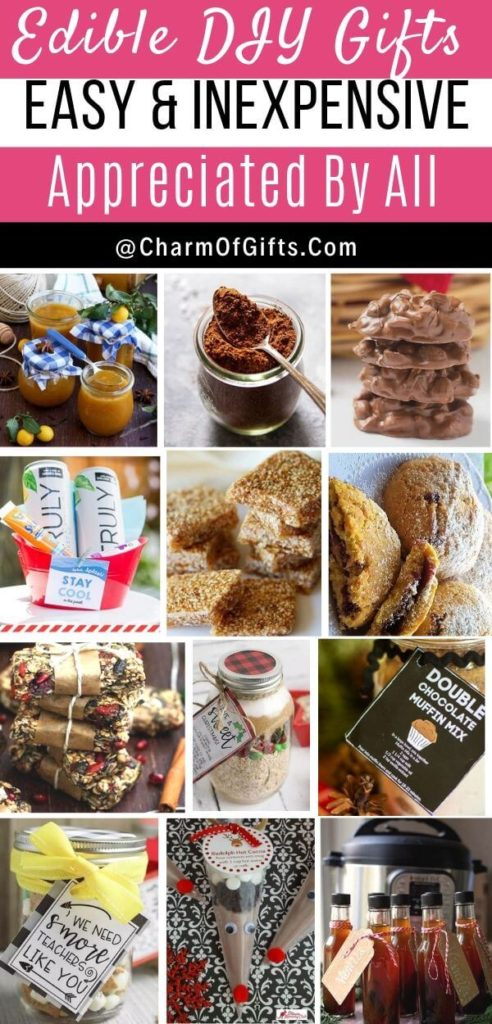 Edible DIY gifts that will be a hit! Make them for holiday season, weddings, housewarming, teachers church, tea party etc. Budget friendly and Simple includes Mason jar gifts and gift baskets