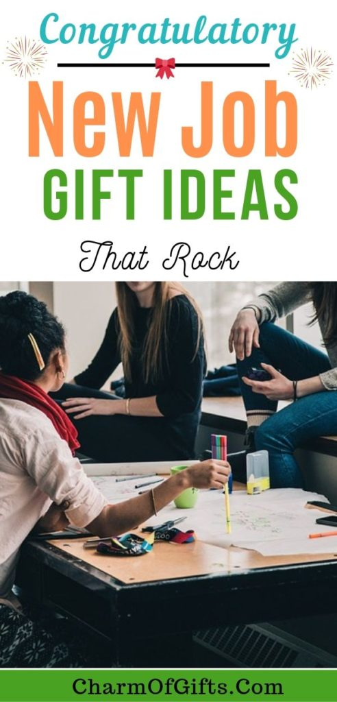 New Job gift ideas for him and her that say Congratulations! Great gift ideas for friends and family that are just starting their career or a professional.