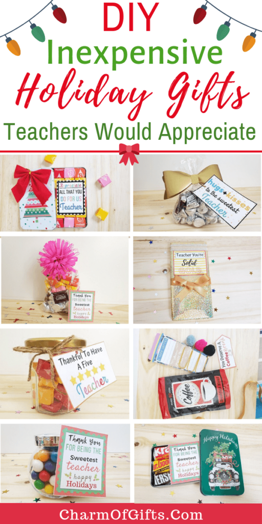 DIY inexpensive holiday gifts for teachers that are so simple and easy to put together you will repeat them every holiday season. Small jar gifts, dollar tree DIY ideas, Christmas gifts, reusable gifts, etc.