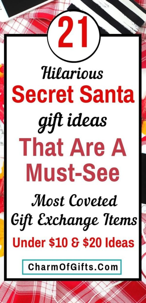 Affordable and fun Secret Santa gifts that are guaranteed to make your coworkers laugh. Perfect gift exchange ideas suitable for white elephant, pink Santa, etc. Appropriate for female and male coworkers.