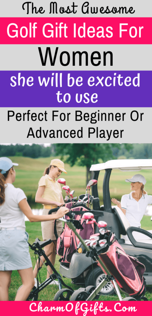 The most awesome golf gifts for a female golfer she will be excited to get. Gadgets and products that signify her love for the sport, and things she can actually use at the golf course
