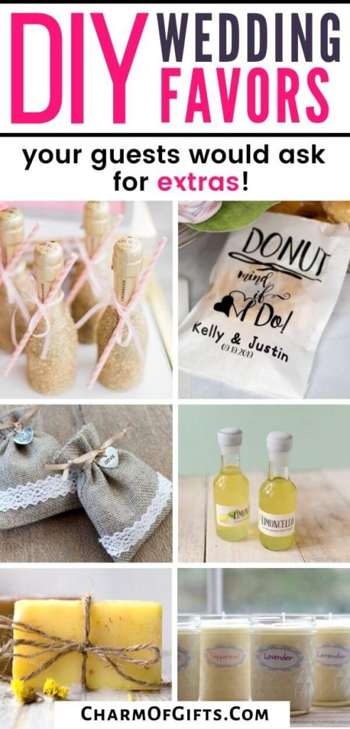 DIY inexpensive wedding favors your wedding guests will be thrilled to take home