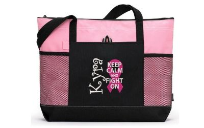 cancer awareness tote bag