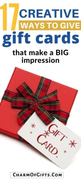 17 creative and clever ways to present a gift card and even multiple gift cards. Perfect for surprising a recipient on their birthday, housewarming, etc., or your staff at work for the Holidays