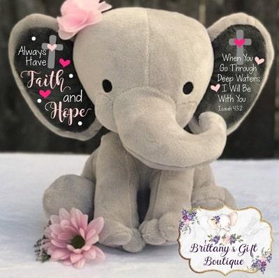 plush elephant cancer gift for women