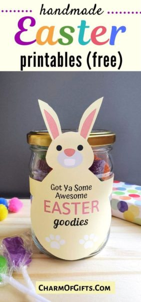 Make you Easter gift stand out with a cute DIY printable bunny tag that is as awesome as the gift inside