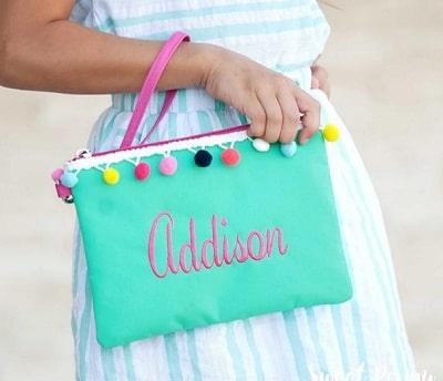 monogram bag for her