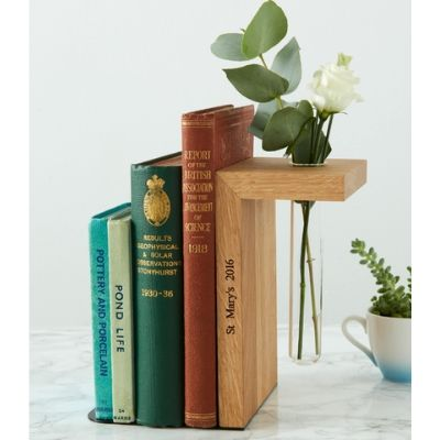 bookend with vase