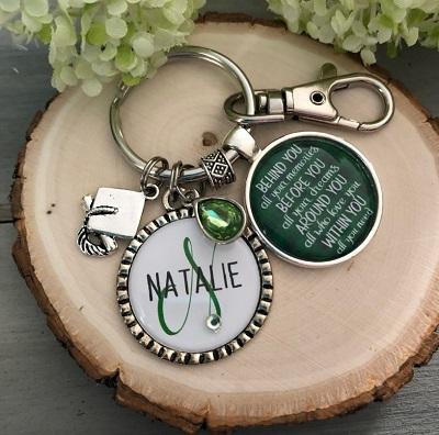 college graduation keychain for girls