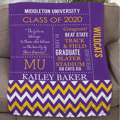 graduation personalized blanket