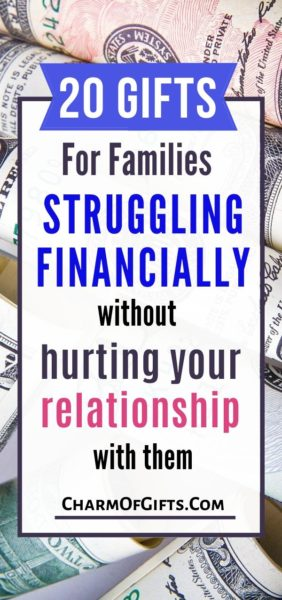 20 helpful gifts for someone or a family struggling financially