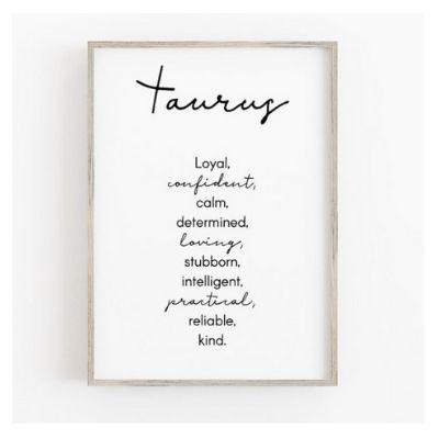 taurus wall print