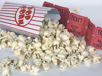 voucher for movie and popcorn