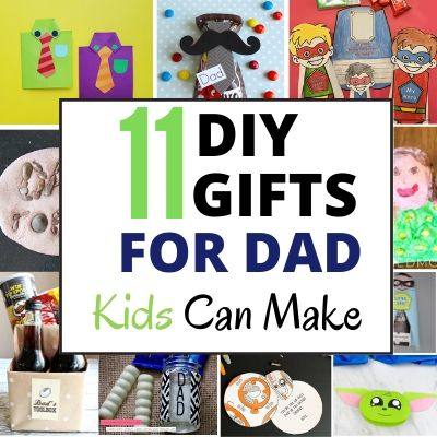 DIY gifts for dad kids can make easily
