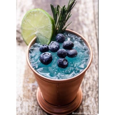 blueberry mule cocktail