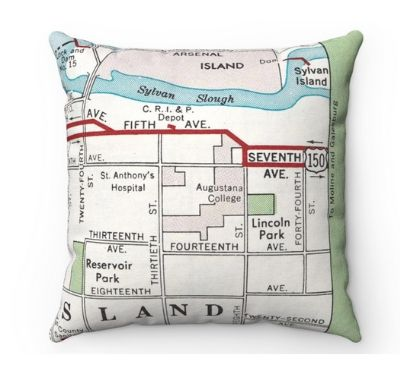college map pillow