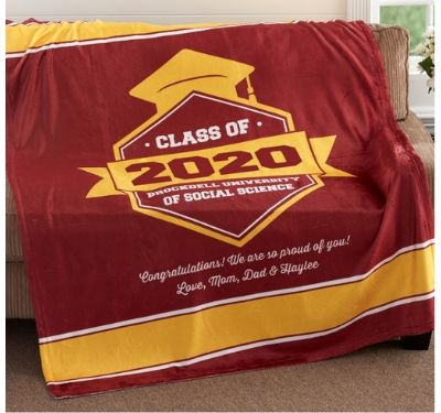 college personalized blanket