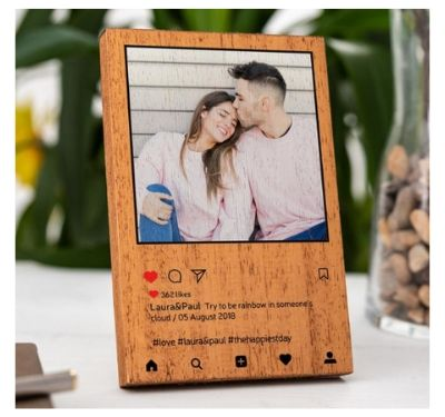 couple photo wooden frame