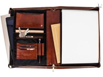 leather portfolio inside