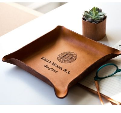 leather tray personalized