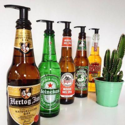 beer inspired dispenser bottle