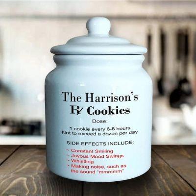 Cookie Jar with RX print
