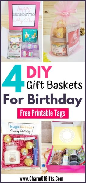 4 diy gift basket ideas for her that are perfect for her birthday