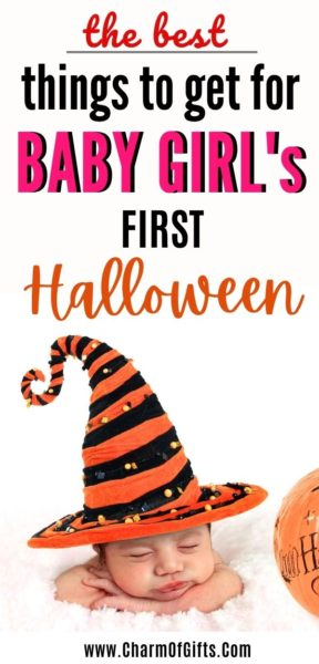 Best gift ideas for a newborn or baby girl first Halloween