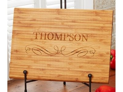 bamboo cutting board personalized