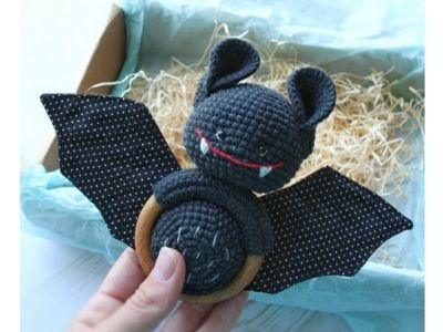 bat crochet rattle