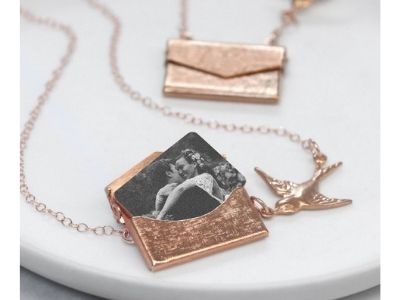 envelop locket necklace