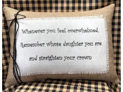 inspirational pillow from mom