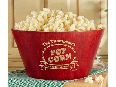 popcorn basket personalized