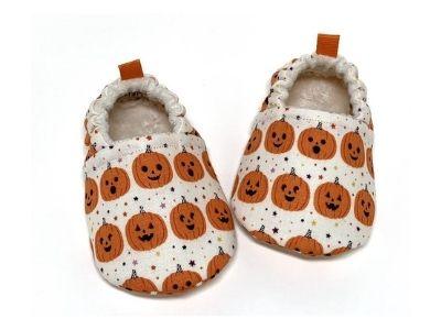 pumpkin print baby shoes