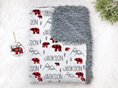 baby christmas themed blanket