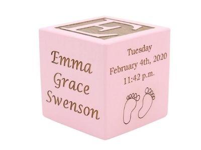 keepsake personalized cube